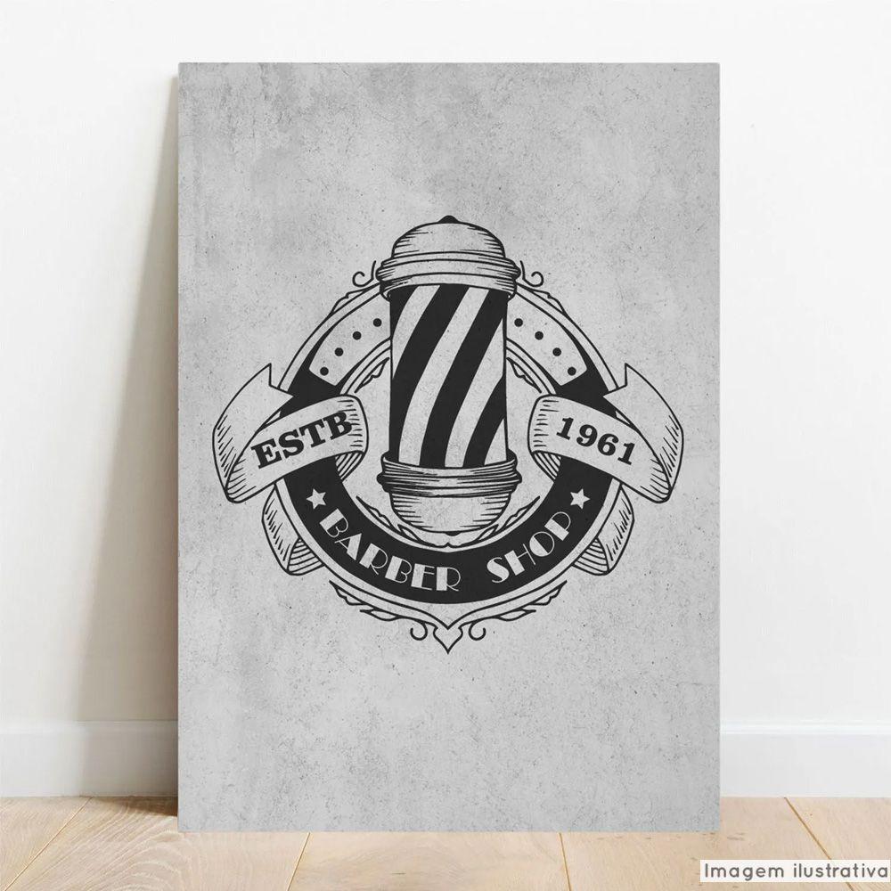 Placa Decorativa Barber Shop  - TaColado