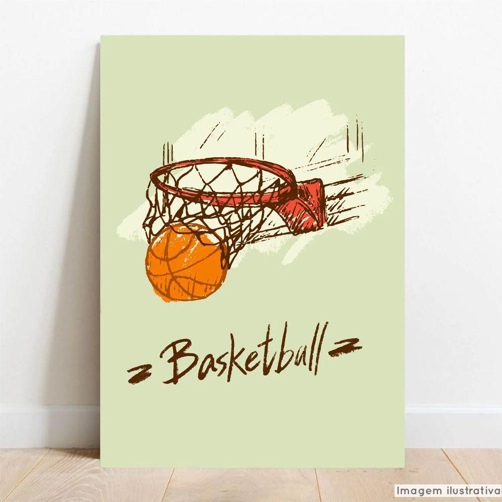 Placa Decorativa Basket  - TaColado