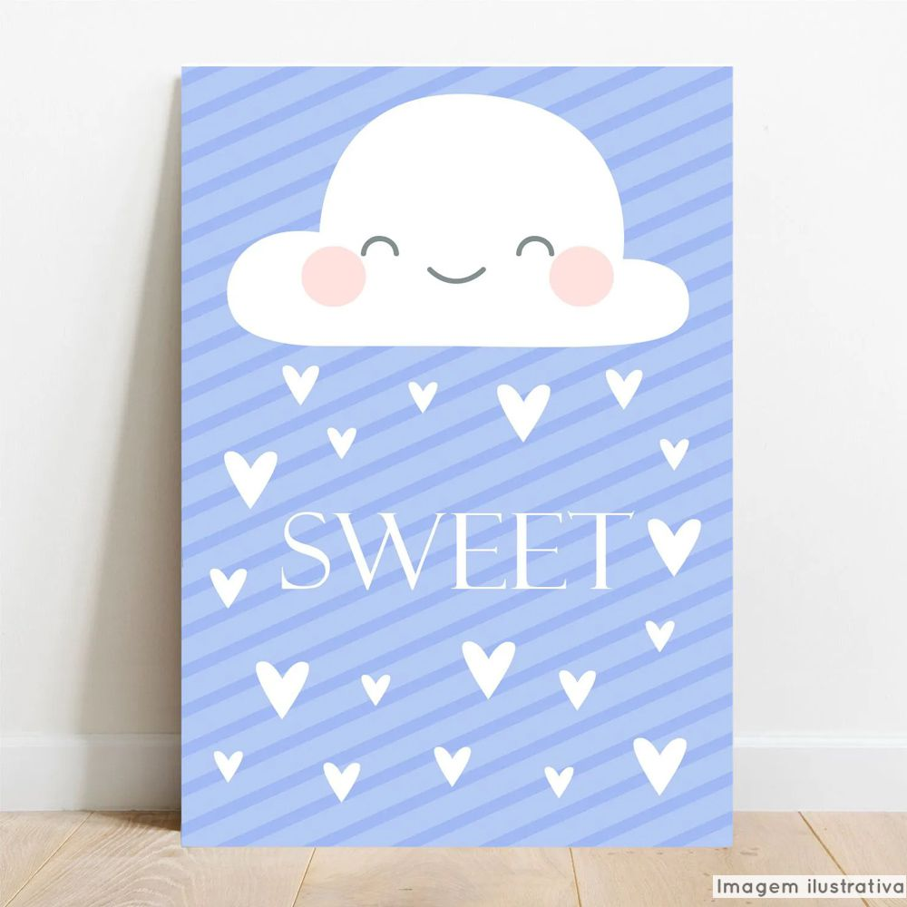 Placa Decorativa Bebe Sweet  - TaColado