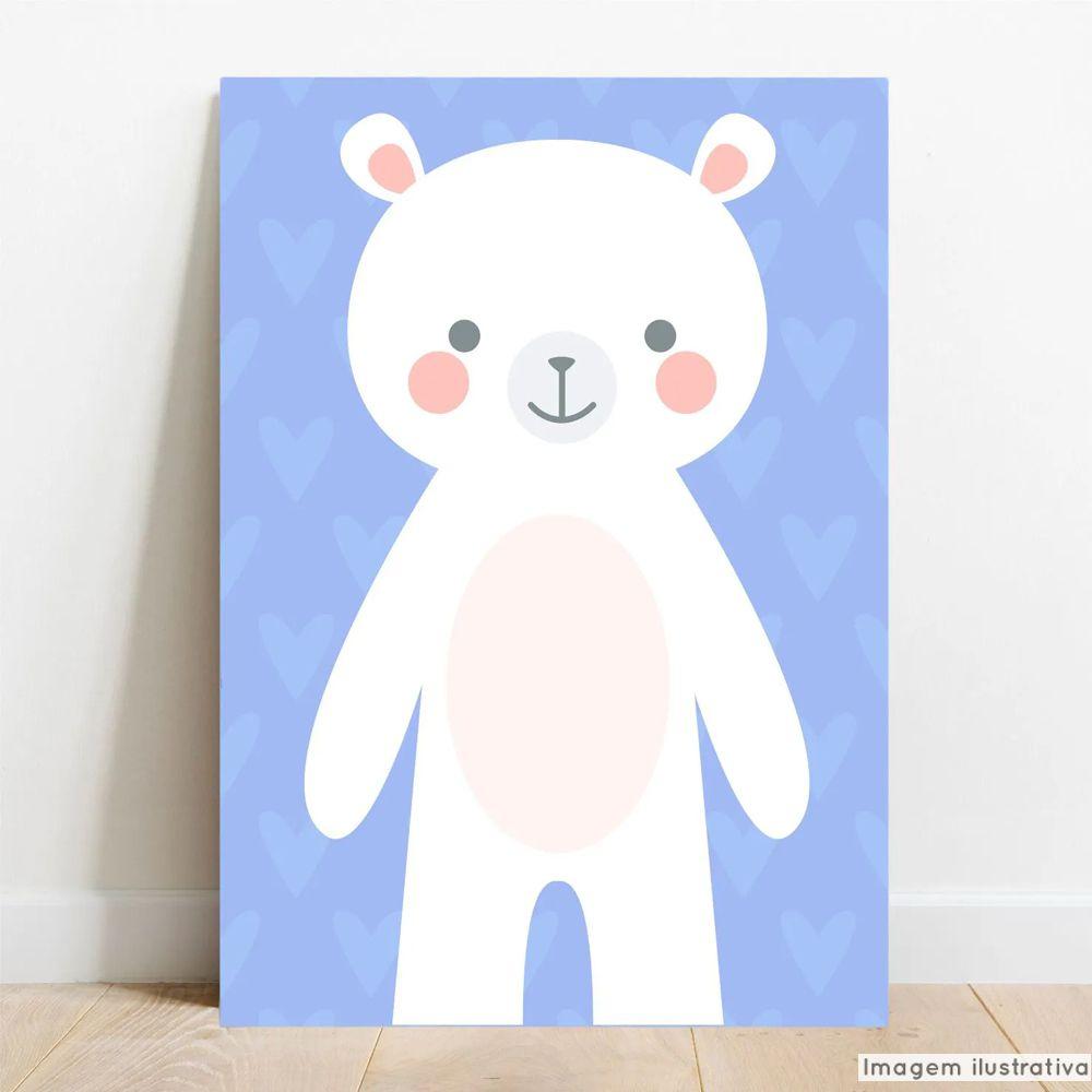Placa Decorativa Bebê Urso  - TaColado