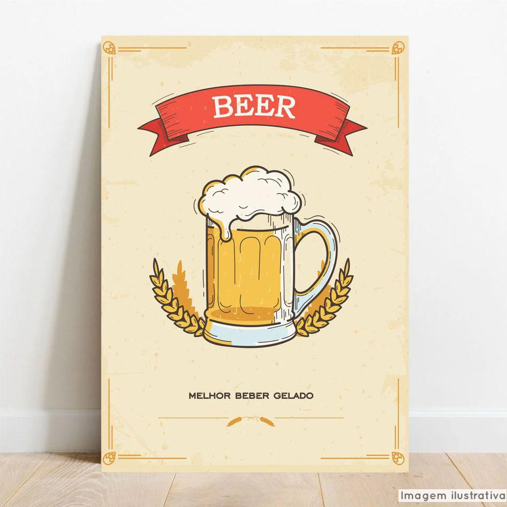 Placa Decorativa Beer  - TaColado