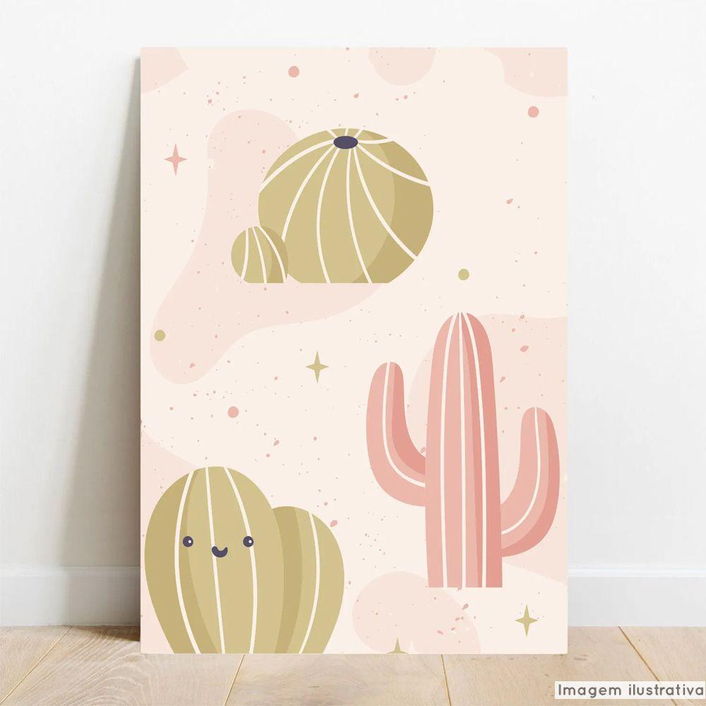 Placa Decorativa Cactos Pink  - TaColado
