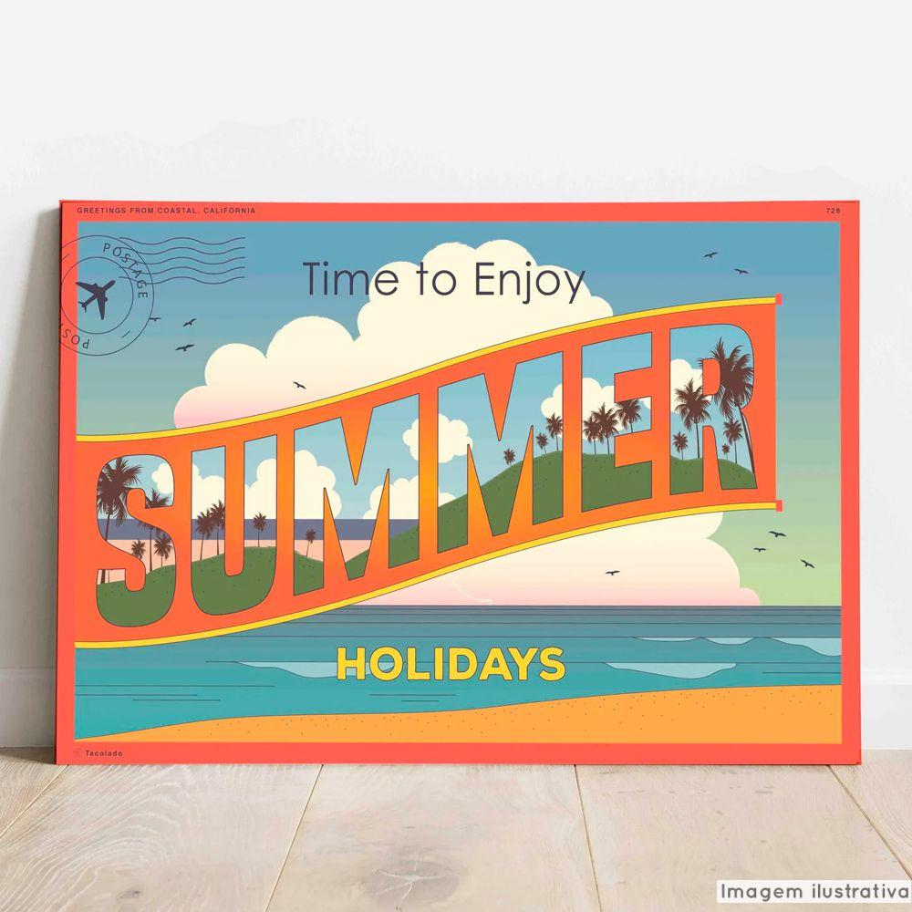 Placa Decorativa Cartão Postal  - TaColado