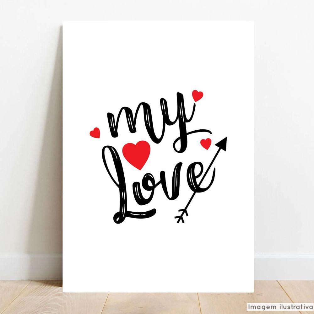 Placa Decorativa Casal My Love  - TaColado