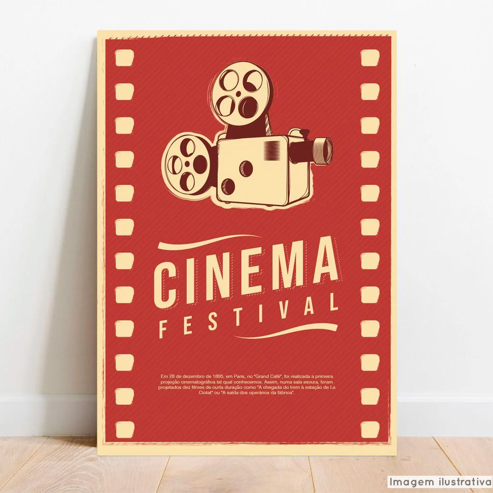 Placa Decorativa Cinema  - TaColado