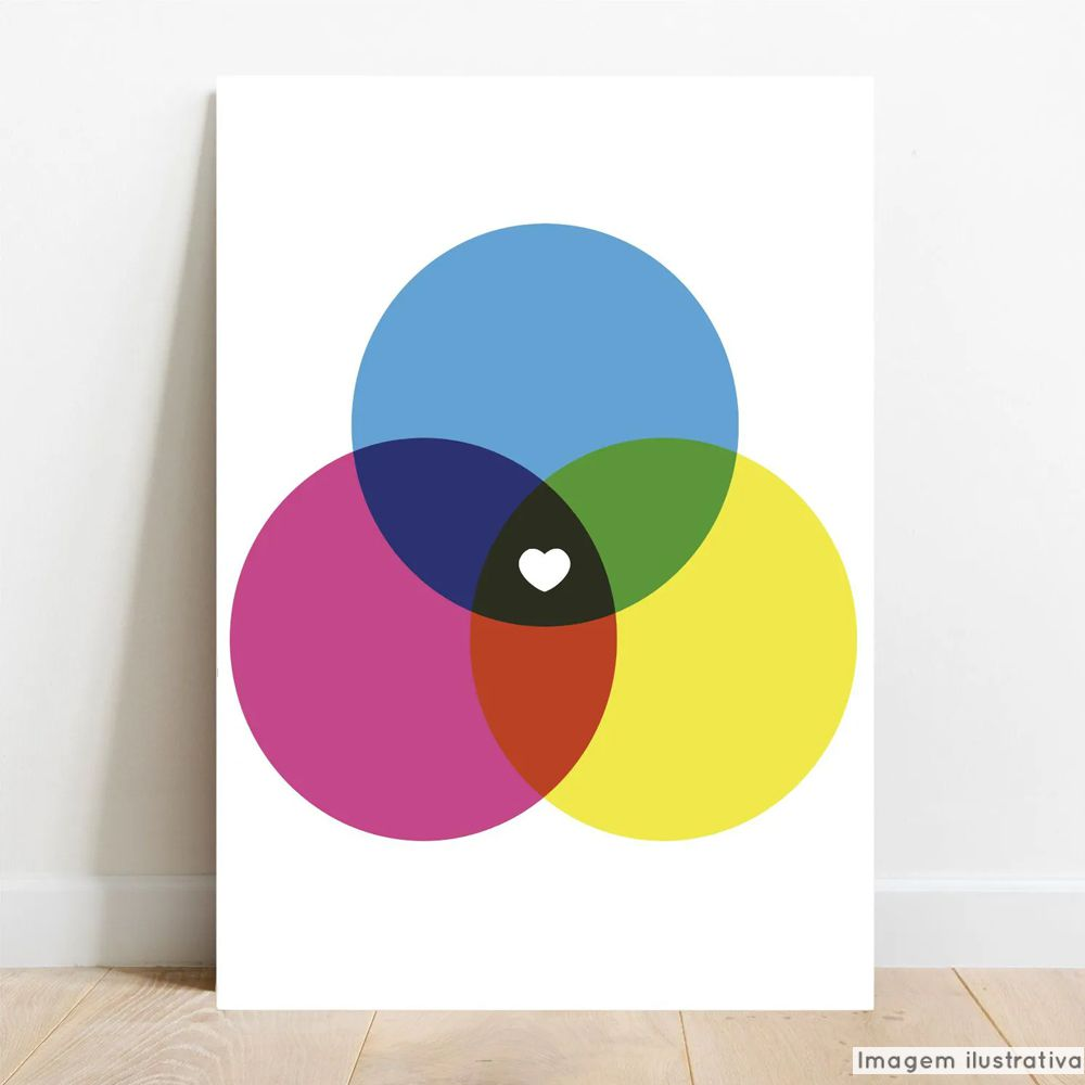 Placa Decorativa CMYK & RGB  - TaColado