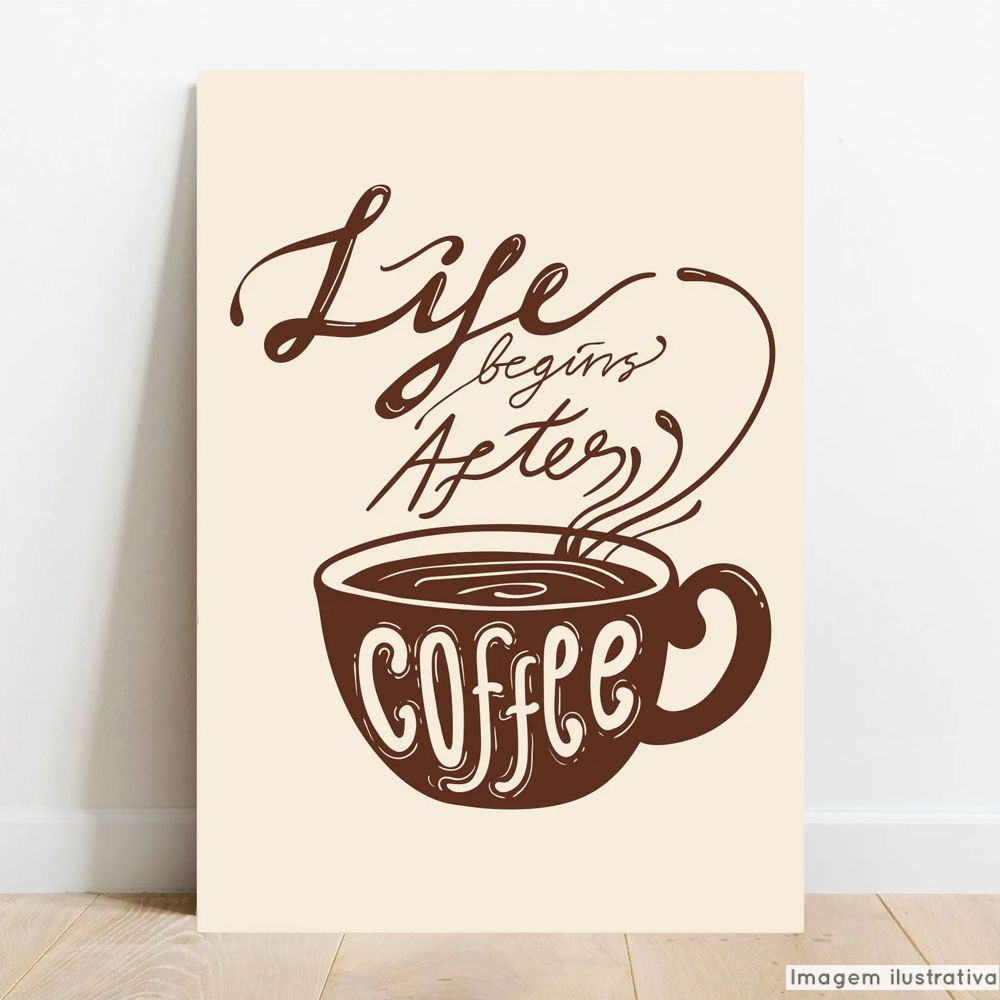 Placa Decorativa Coffee  - TaColado