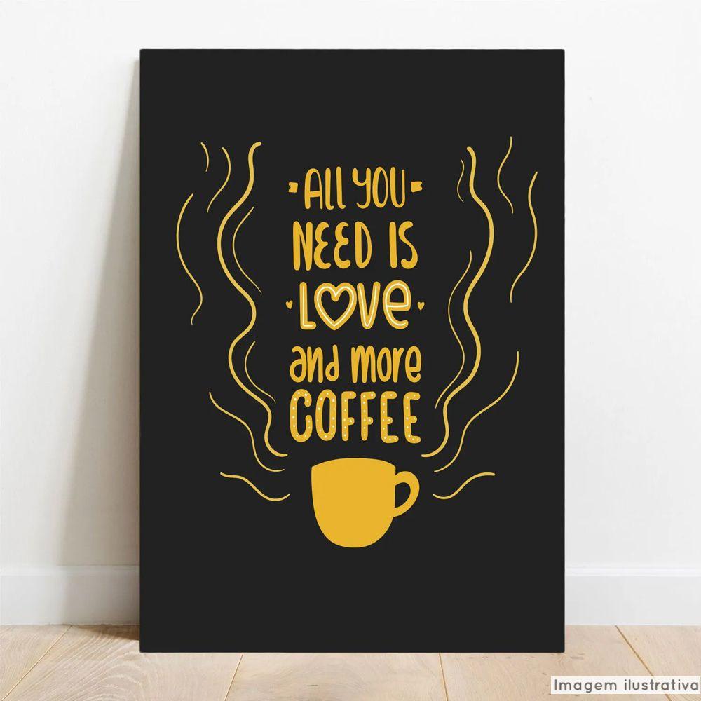 Placa Decorativa Coffee Love  - TaColado