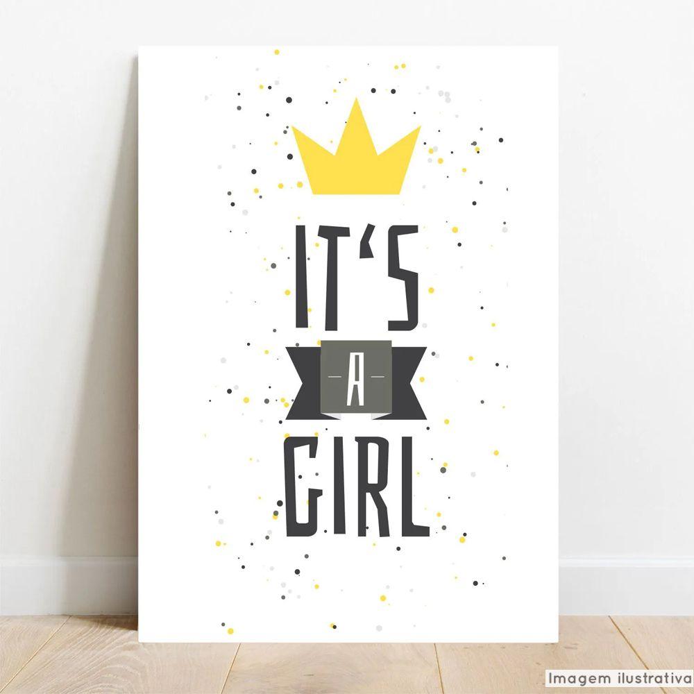 Placa Decorativa Color Girl  - TaColado