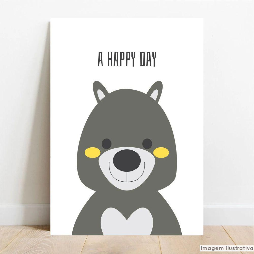 Placa Decorativa Color Happy Day  - TaColado