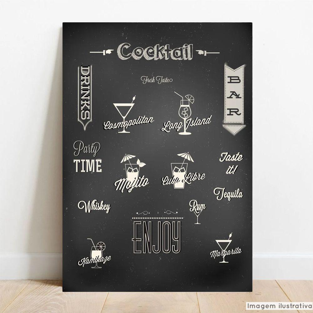 Placa Decorativa Coquetéis  - TaColado