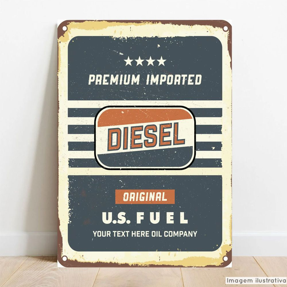 Placa Decorativa Diesel  - TaColado
