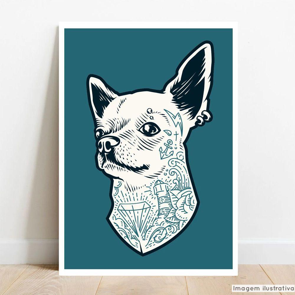 Placa Decorativa Dog Style  - TaColado