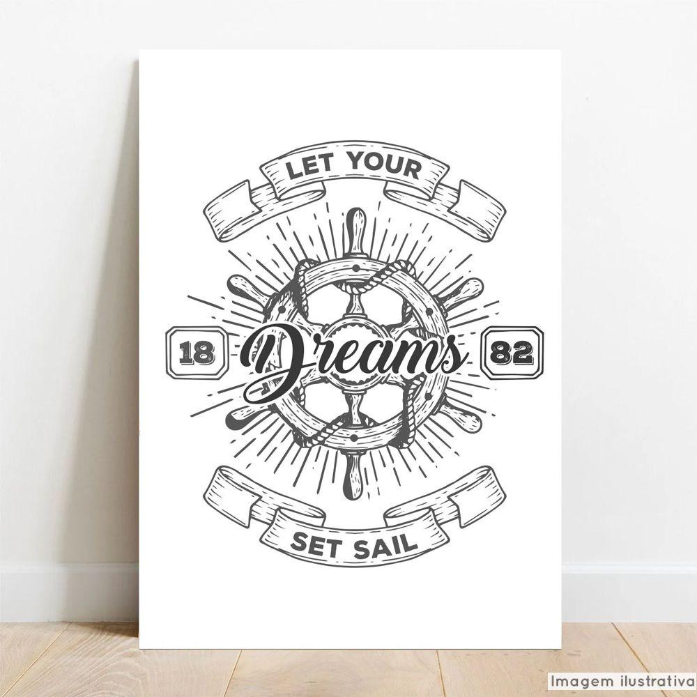 Placa Decorativa Dreams  - TaColado