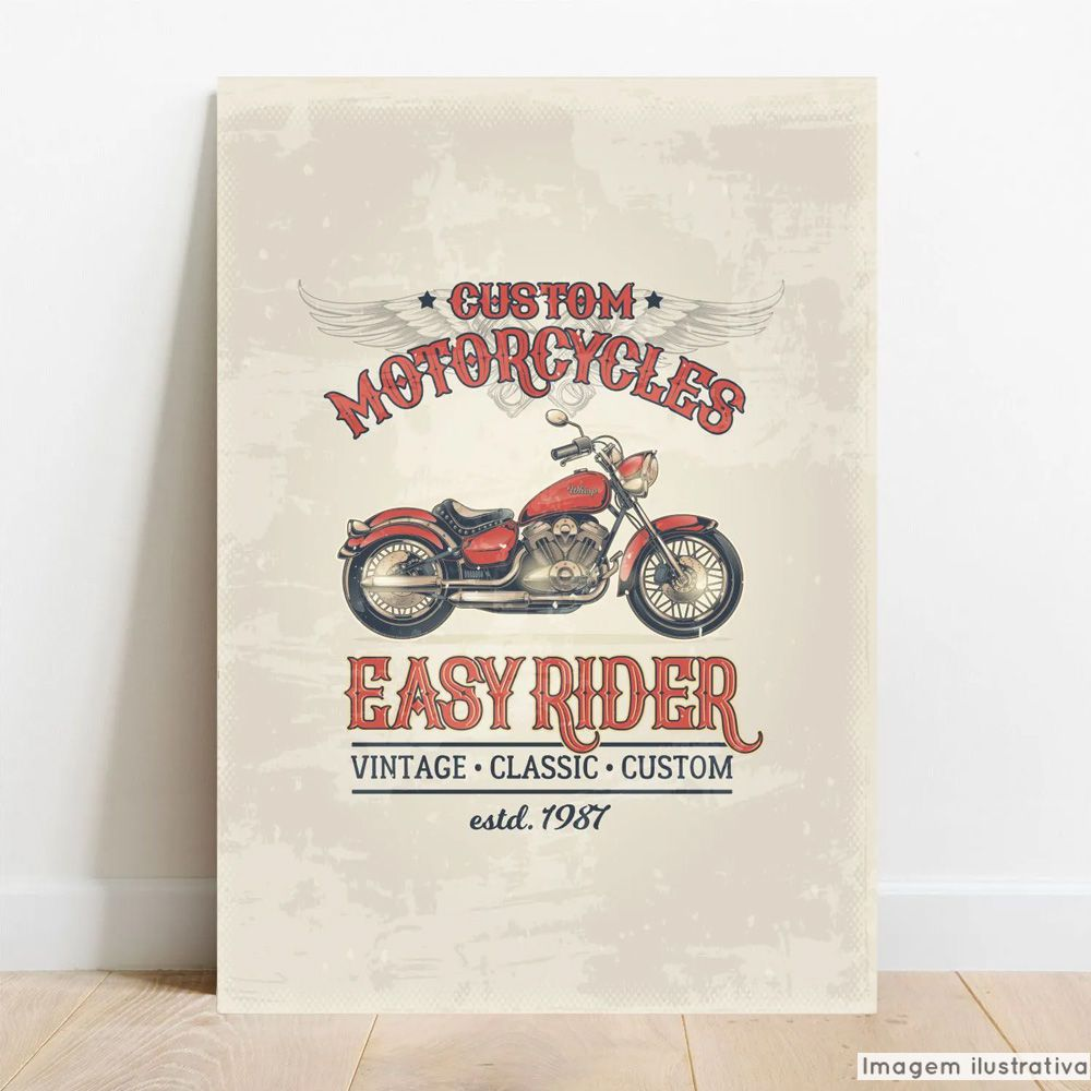 Placa Decorativa Easy Rider  - TaColado