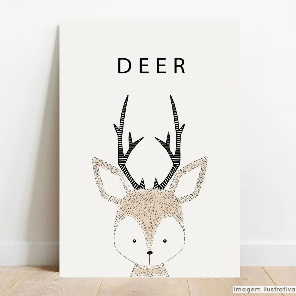 Placa Decorativa Escandinavo Deer  - TaColado