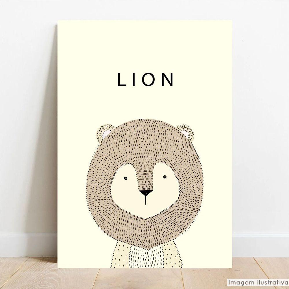 Placa Decorativa Escandinavo Lion  - TaColado
