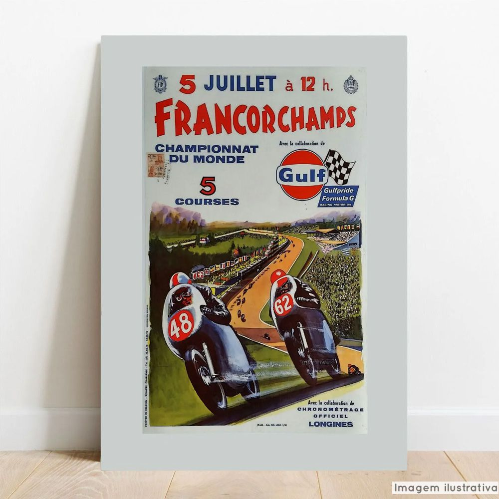 Placa Decorativa Francorchamps  - TaColado