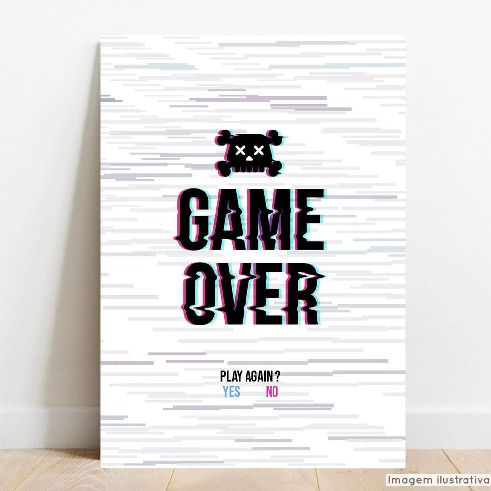 Placa Decorativa Game Over  - TaColado