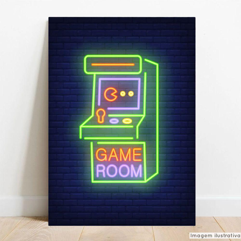 Placa Decorativa Game Room  - TaColado