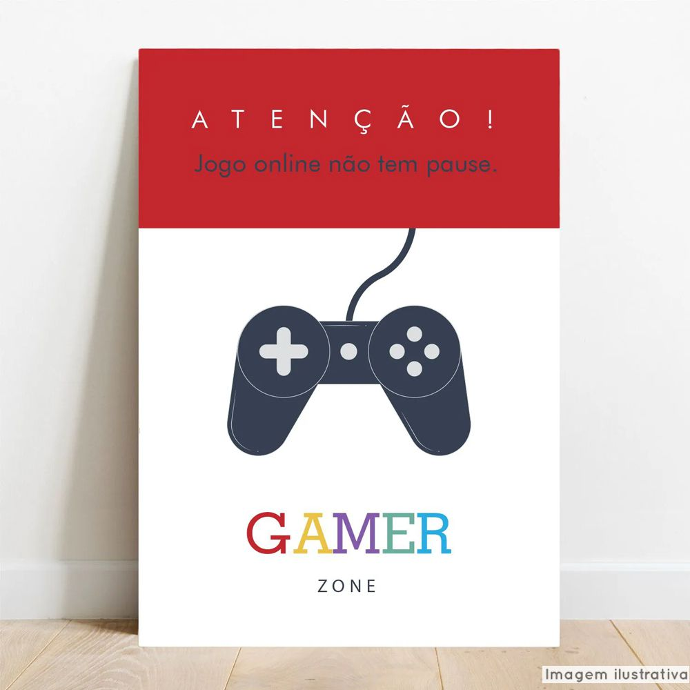 Placa Decorativa Gamer Zone  - TaColado