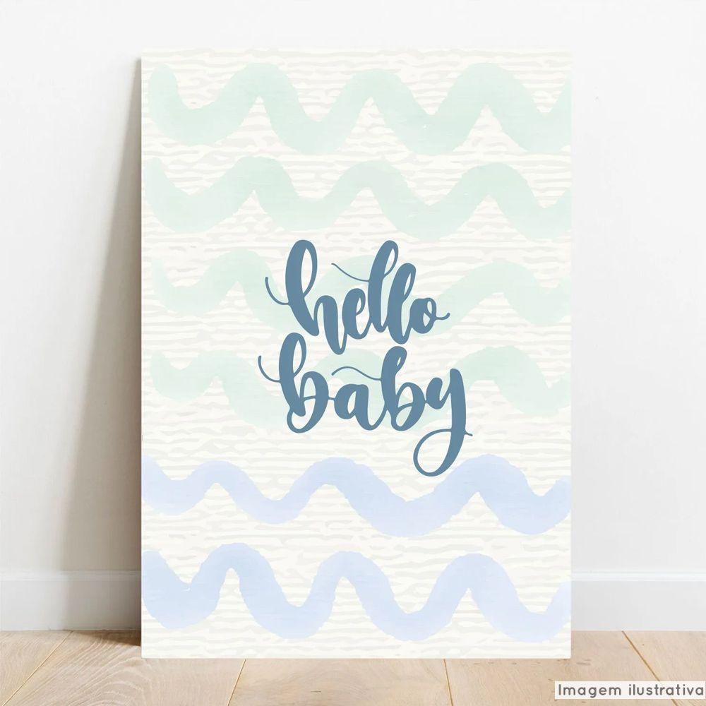 Placa Decorativa Hello Baby  - TaColado