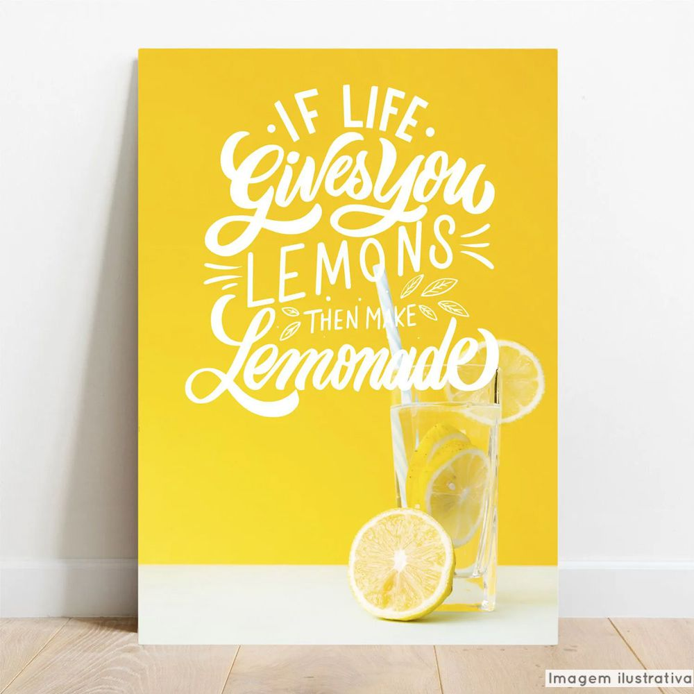 Placa Decorativa Lemonade  - TaColado