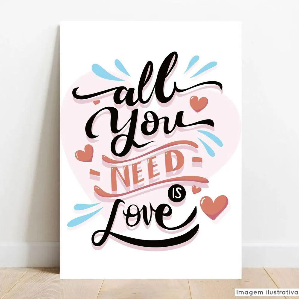 Placa Decorativa Love  - TaColado