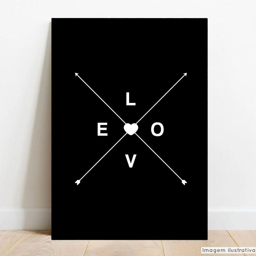 Placa Decorativa Love X  - TaColado