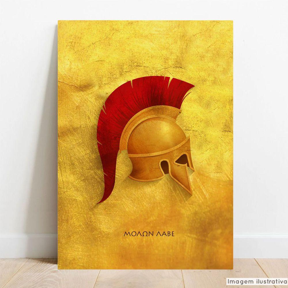 Placa Decorativa Metálica Esparta  - TaColado