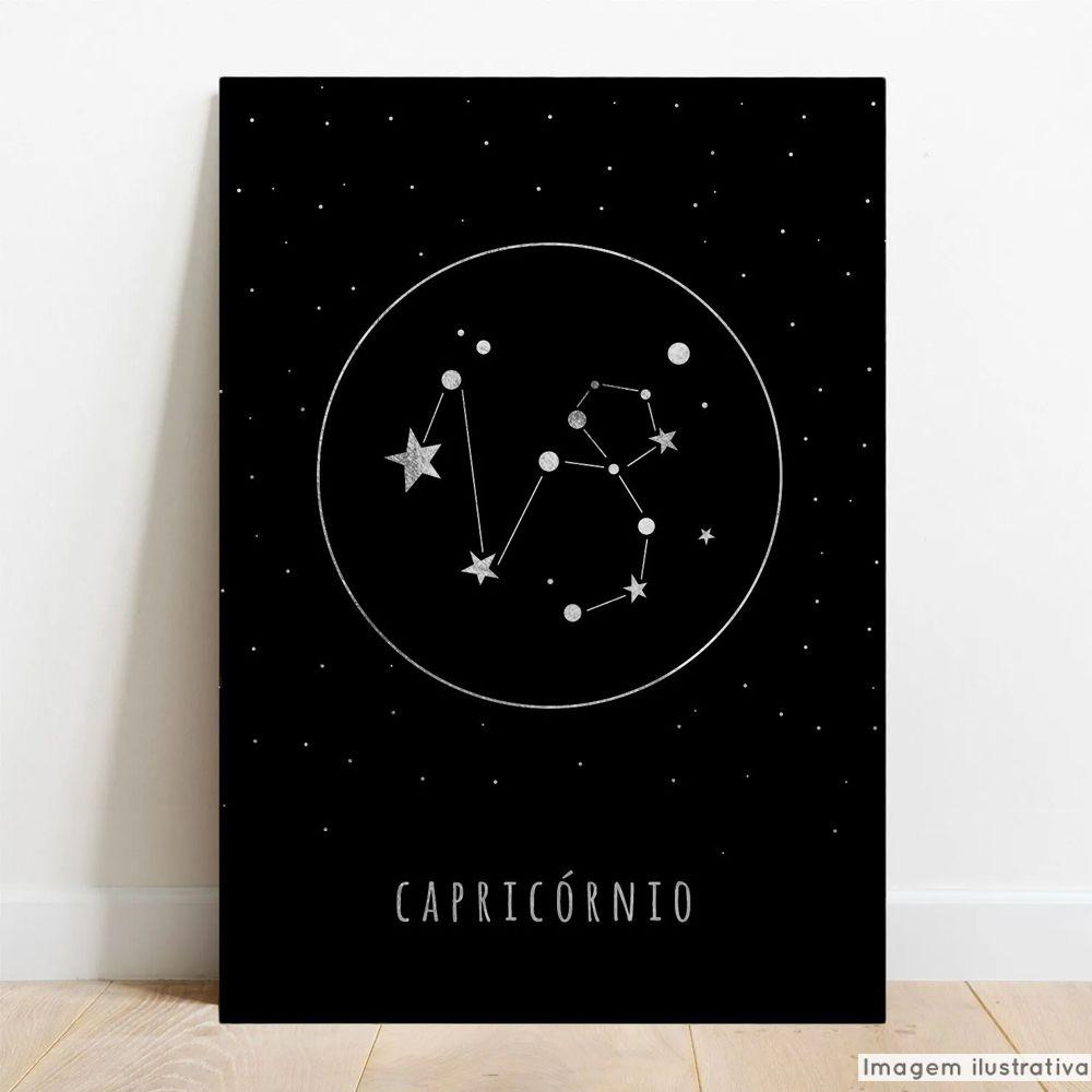 Placa Decorativa Metálica Signos Capricórnio  - TaColado