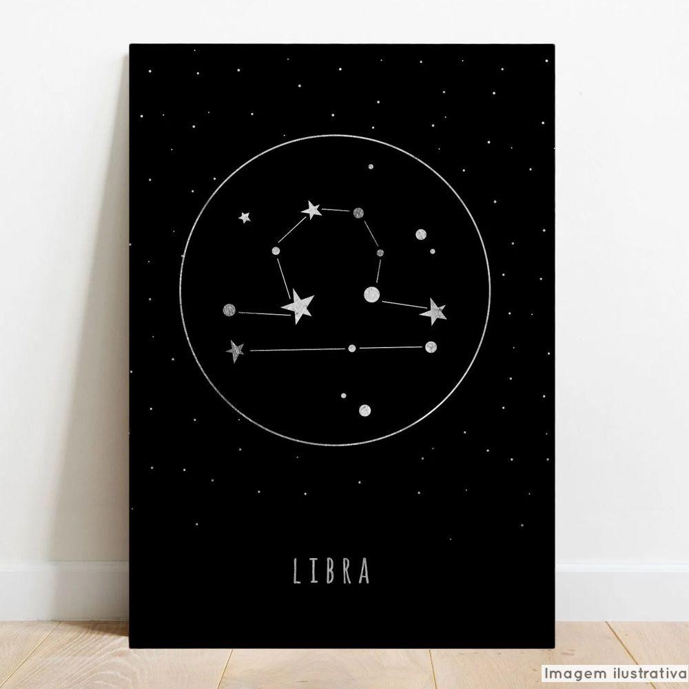 Placa Decorativa Metálica Signos Libra  - TaColado