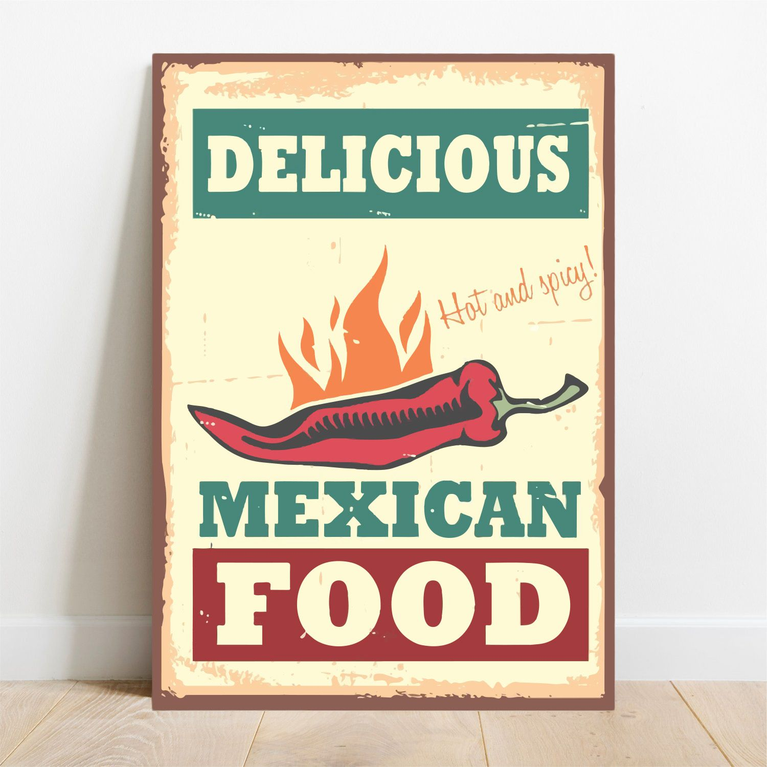 Placa Decorativa Mexican Food  - TaColado