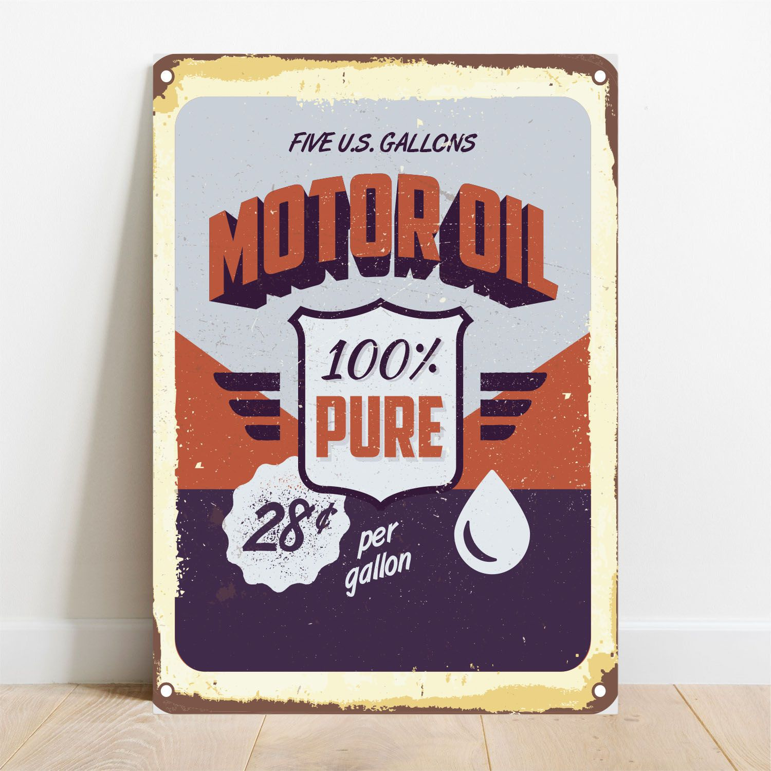Placa Decorativa Motor Oil Pure  - TaColado