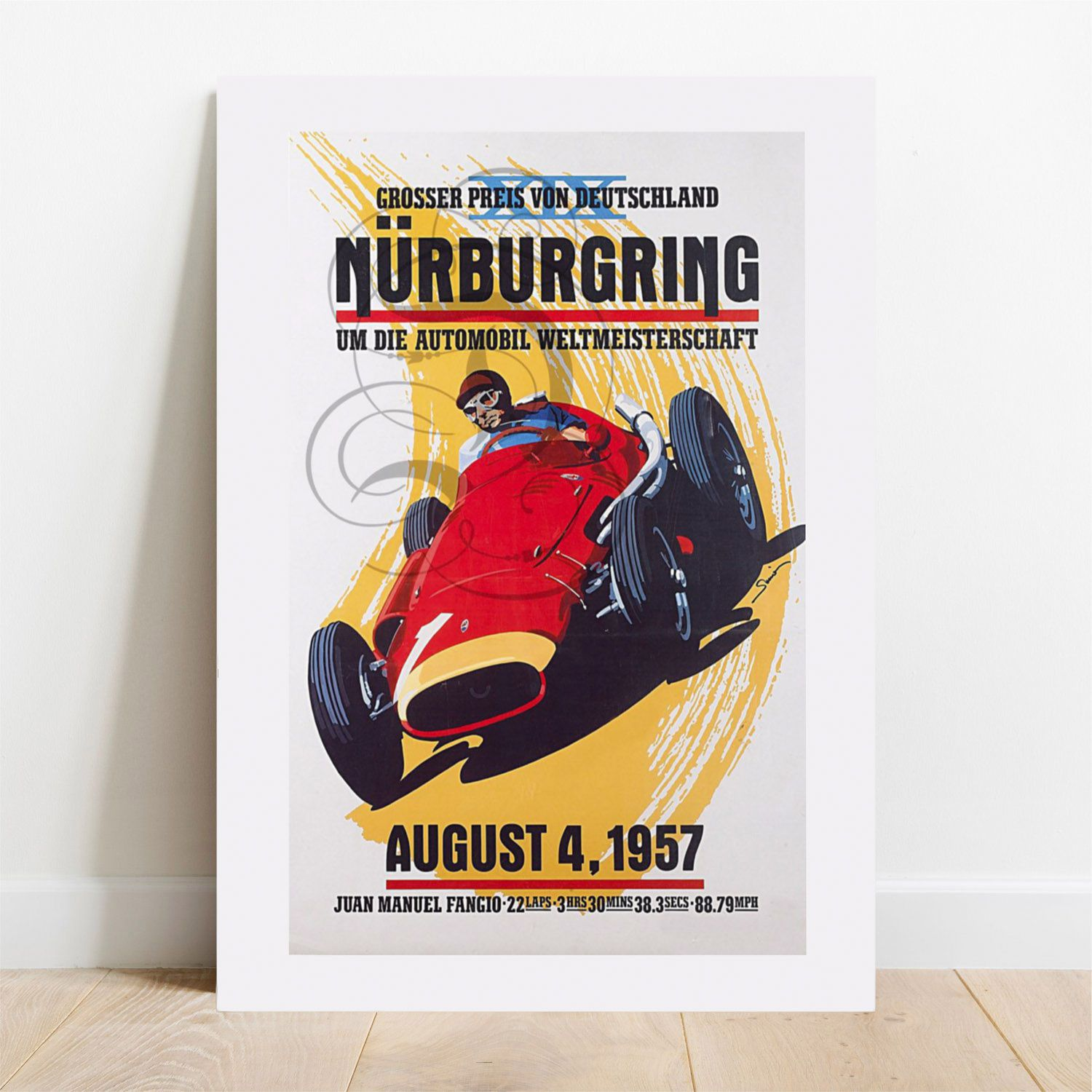Placa Decorativa Nurburgring  - TaColado