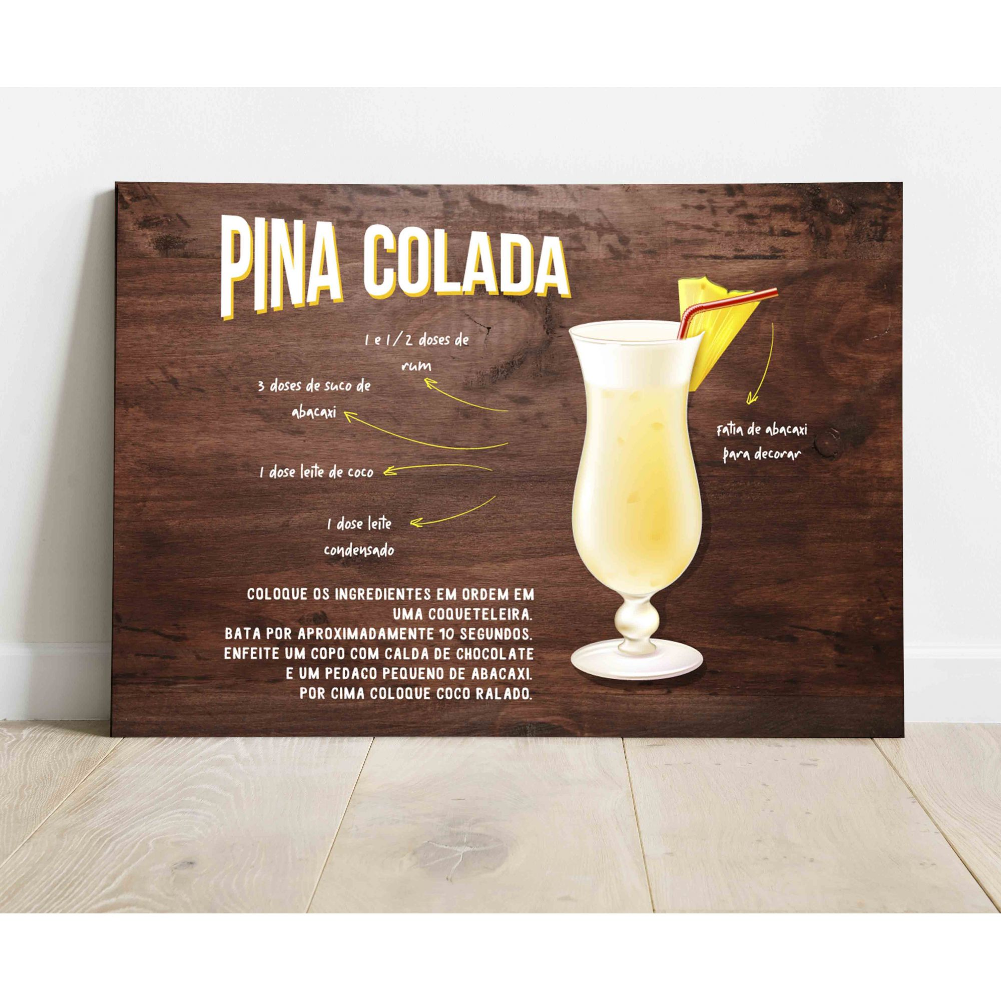Placa Decorativa Pina Colada