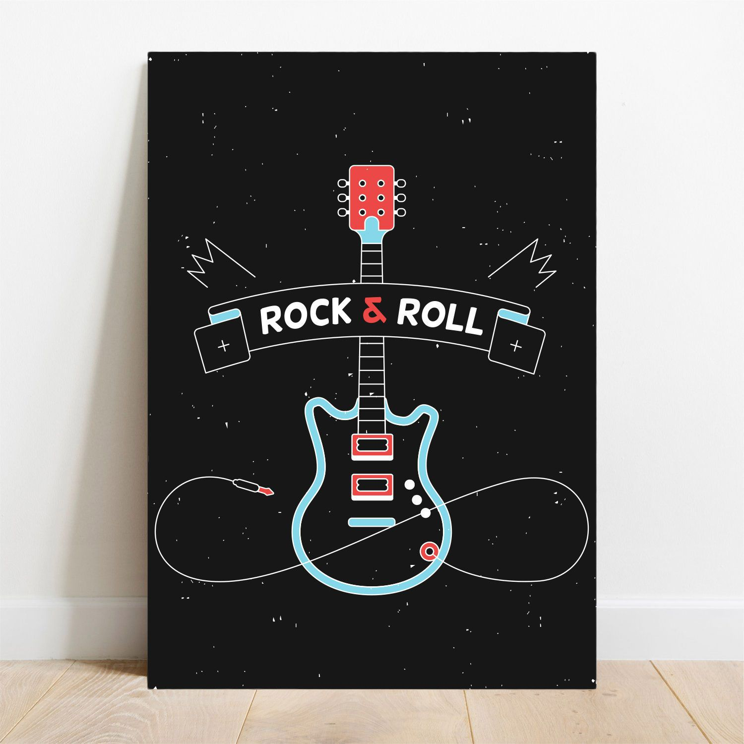 Placa Decorativa Rock & Roll  - TaColado