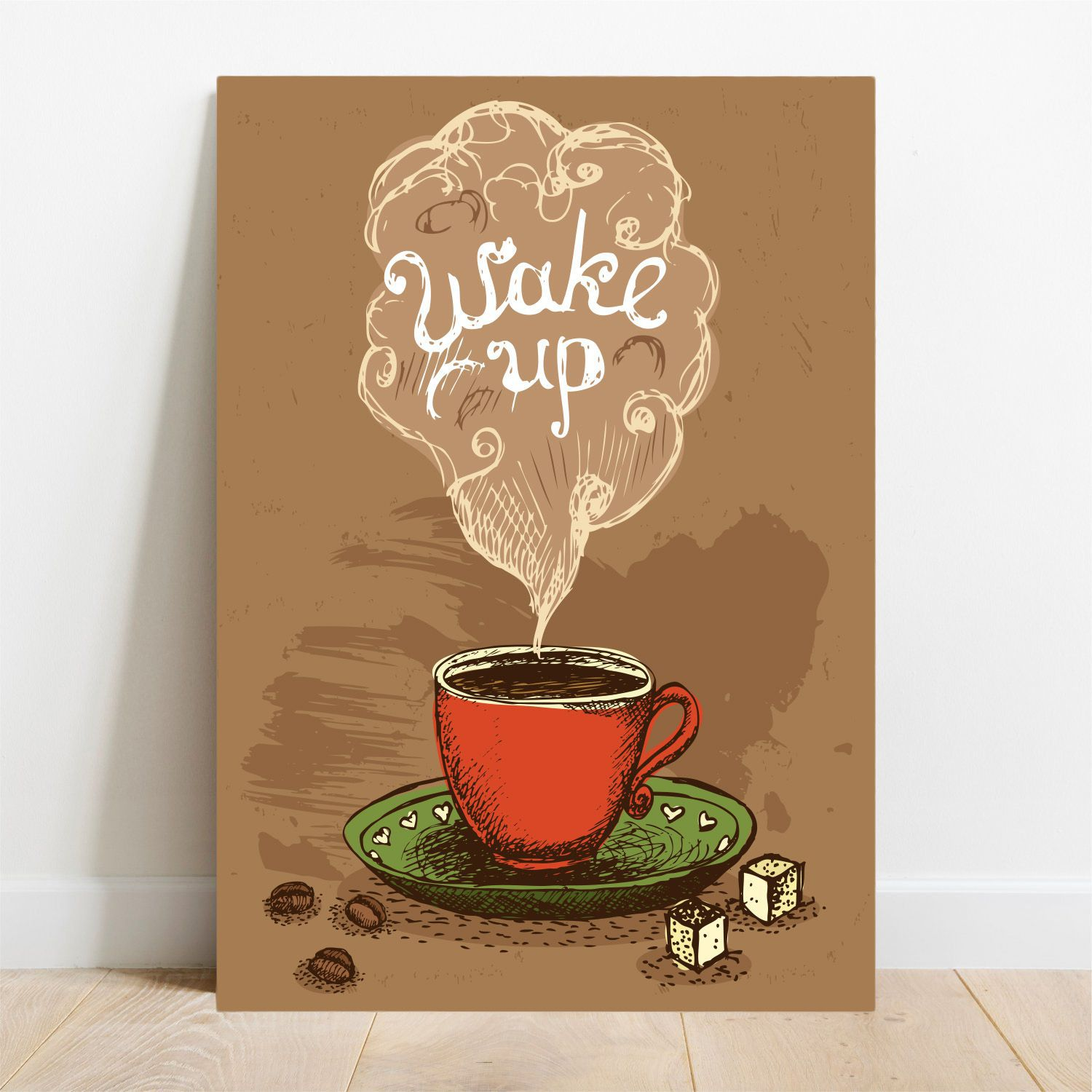 Placa Decorativa Wake Up  - TaColado