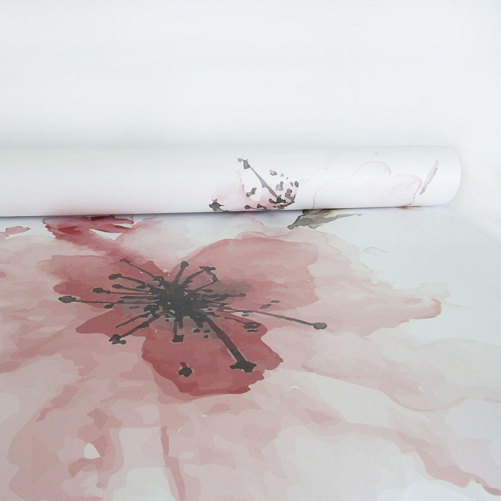 Queima de Estoque - Adesivo Para Vidro Box Banheiro Jateado Decorado Cherry Prova D