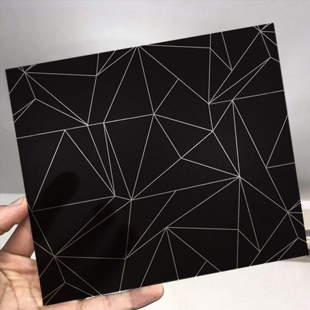 Queima de Estoque - Adesivo Para Vidro Box Banheiro Jateado Decorado Dark Prova D
