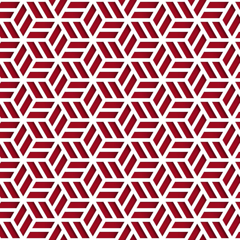 Promoção  - Papel de Parede 3D Cobogó Vermelho - Kit com 02 rolos  - TaColado