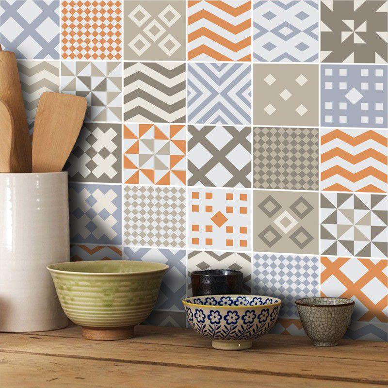 Queima de Estoque - Papel de Parede Azulejo para Cozinha Sintra  - TaColado
