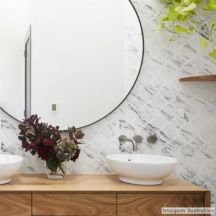 Promoção - Papel de Parede Lavavel para Banheiro Cozinha Revestimento Fosco Mármore Arabesco  - TaColado