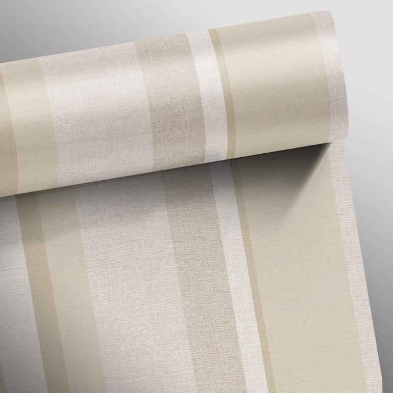 Promoção - Papel de Parede Listras Elegance Marrom - Kit com 03 rolos  - TaColado