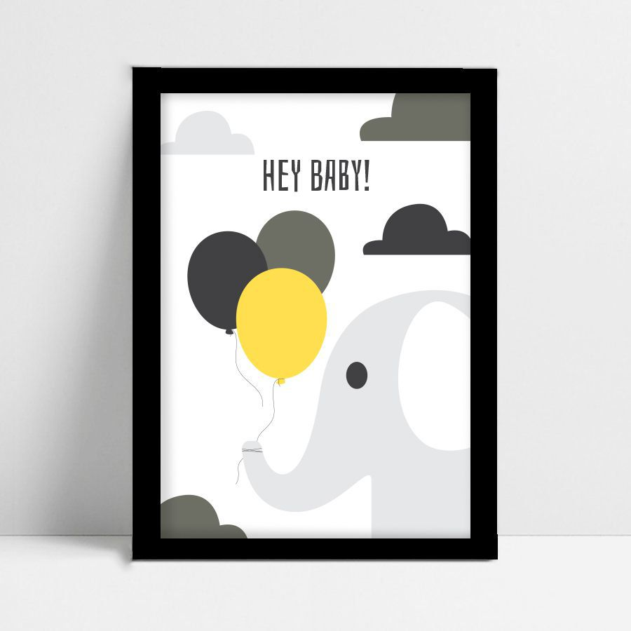 Quadro Decorativo Color Hey Baby