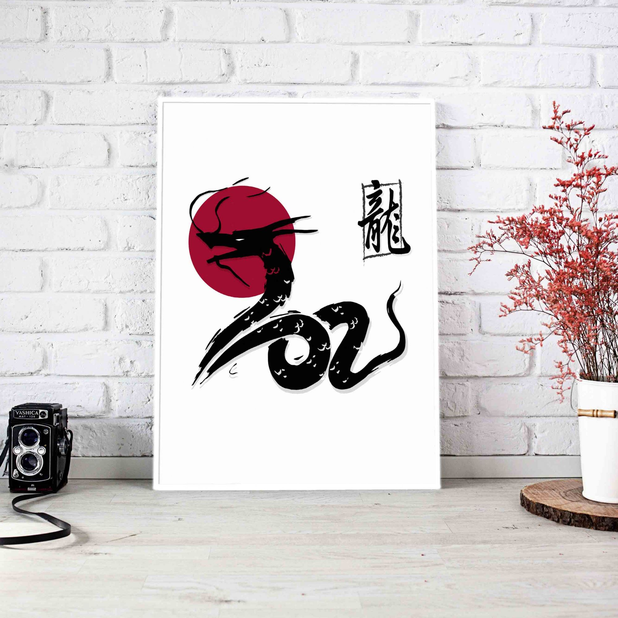 Quadro Decorativo Dragon  - TaColado
