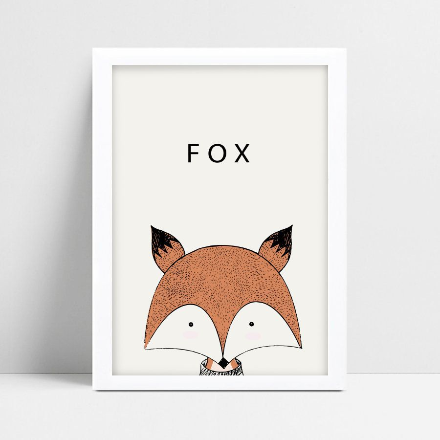 Quadro Decorativo Escandinavo Fox