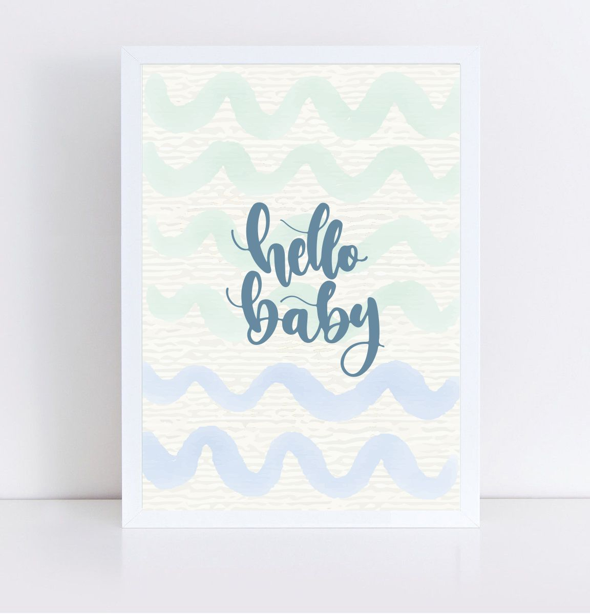Quadro Decorativo Hello Baby  - TaColado