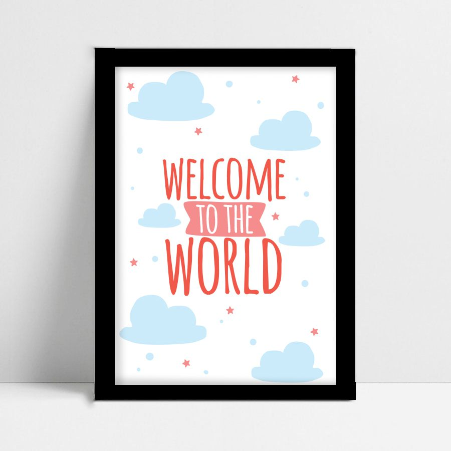 Quadro Decorativo Sweet World  - TaColado