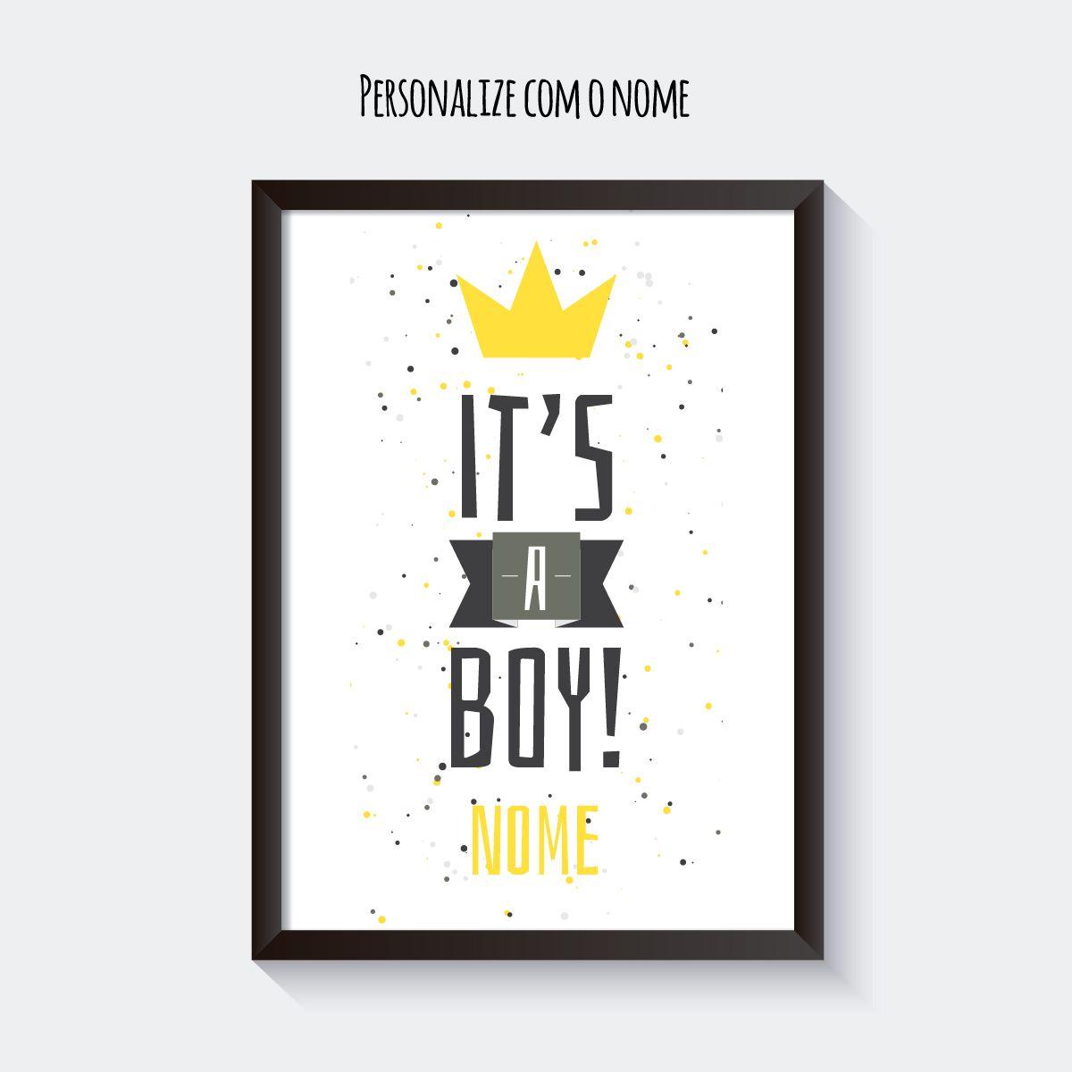 Quadro Personalizado Color Boy  - TaColado